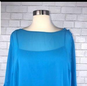 Loft petite shoulder florence dress